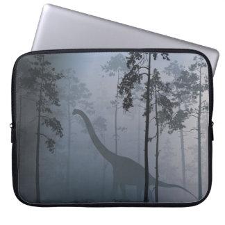 Dinosaur by Moonlight Laptop Sleeve