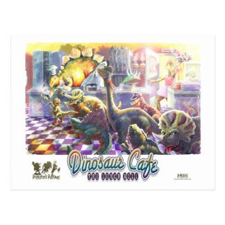 Dinosaur Cafe Postcard