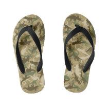 Dinosaur Camouflage Flip Flops for Kids