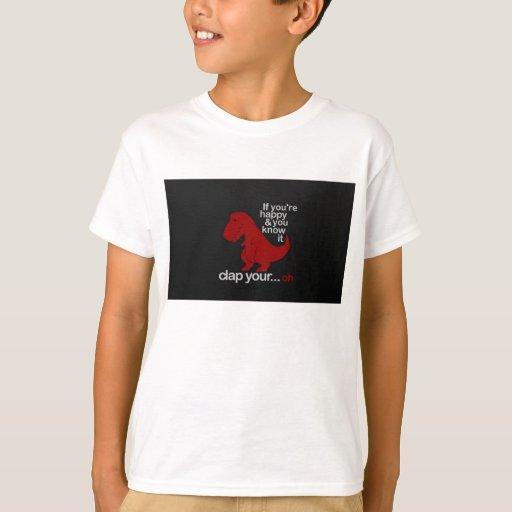 dinosaur can't clap joke T-Shirt