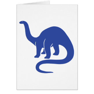 Dinosaur Card - Blue
