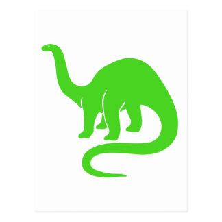 Dinosaur Card Light Green
