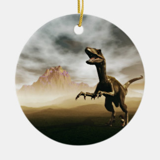 Dinosaur cartoon ceramic ornament