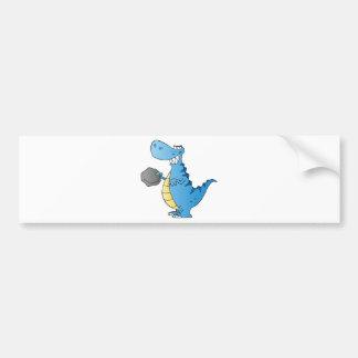 Dinosaur  Cartoon Character Bumper Sticker