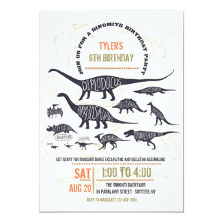 Dinosaur Chart Invitation
