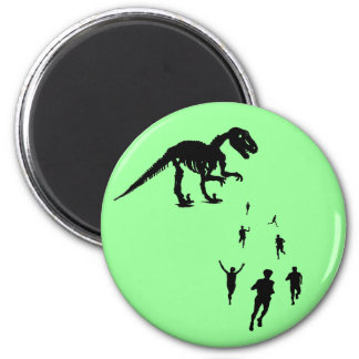 Dinosaur Chasey - Tag! You're IT! 2 Inch Round Magnet