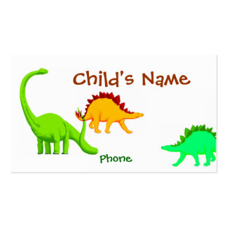Dinosaur Children's Calling Card Double-Sided Standard Business Cards (Pack Of 100)