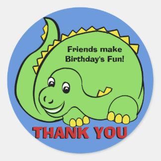 Dinosaur Classic Round Sticker