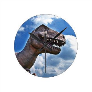 Dinosaur!!! Round Wall Clocks