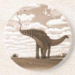 Dinosaur Coaster Apatosaurus Sepia Gregory Paul