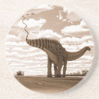 Dinosaur Coaster Brontosaurus Sepia Gregory Paul