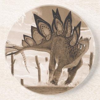 Dinosaur Coaster Stegosaurus Sepia Gregory Paul