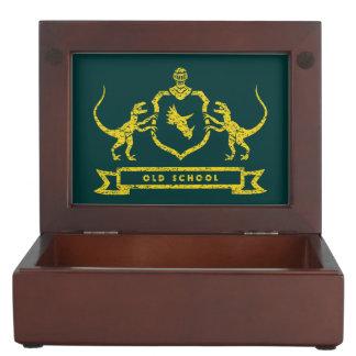 Dinosaur Coat of Arms Keepsake Box