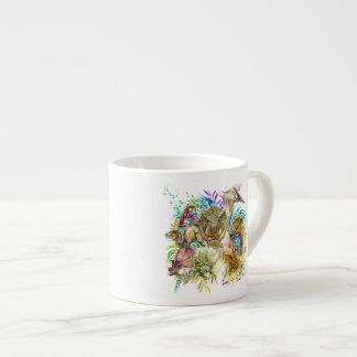 Dinosaur Collage Espresso Cup