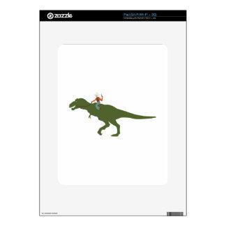 Dinosaur Cowboy iPad Skin