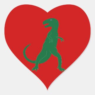 Dinosaur Cretaceous Tyrannosaurus Science Animal Heart Sticker