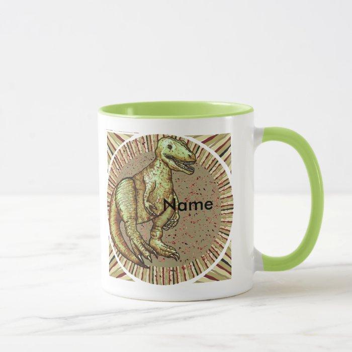 Dinosaur Custom Name Mug