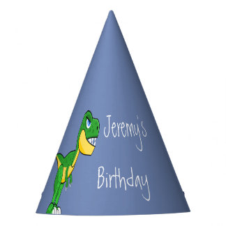 Dinosaur Cute Boys Birthday Party Hat