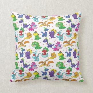 Dinosaur Cuteness Extravaganza Pillows