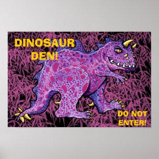 Dinosaur Den -Do Not Enter Posters