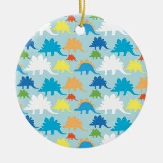 Dinosaur Designs Blue Orange Yellow Red Dinosaurs Ceramic Ornament