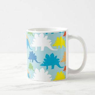 Dinosaur Designs Blue Orange Yellow Red Dinosaurs Coffee Mug