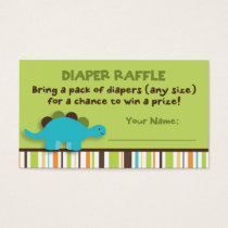 Dinosaur Diaper Raffle Tickets