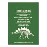 """Dinosaur Dig Birthday 5"""" X 7"""" Invitation Card"""
