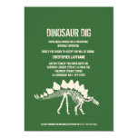 Dinosaur Dig Birthday 5x7 Paper Invitation Card