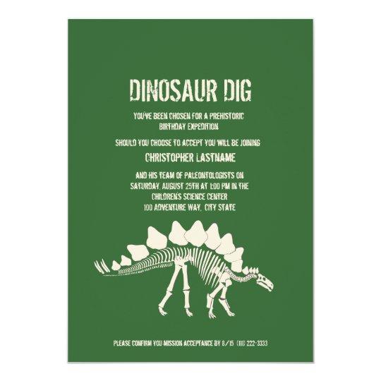 Dinosaur Dig Birthday Card