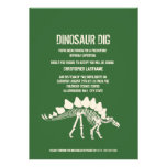 Dinosaur Dig Birthday Personalized Invite