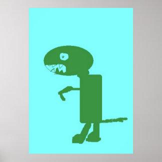 Dinosaur Dino, Extra Large Poster, Kids Art Poster