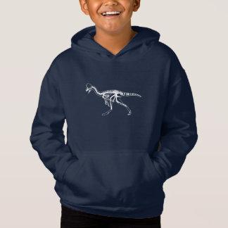 Dinosaur, Dino, Saurus Skeleton Illustration Hoodie