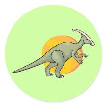 Dinosaur Dinosaurs Jurassic Reptilia Art Animal Classic Round Sticker