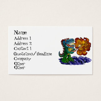 Dinosaur Dragon Cooking Marshmallows With Breath Business Card