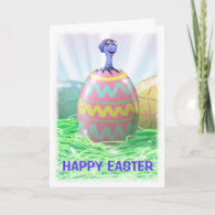 Dinosaur Easter Card