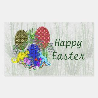 Dinosaur Easter Eggs Rectangle Sticker