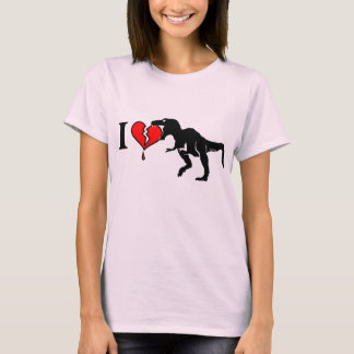 Dinosaur eat heart T-Shirt