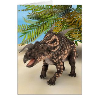 Dinosaur Einiosaurus Card