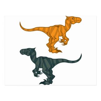 Dinosaur evil postcard