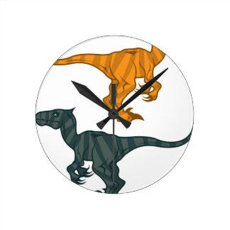 Dinosaur evil round clock