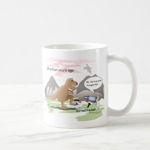 Dinosaur  Extinction Classic White Coffee Mug