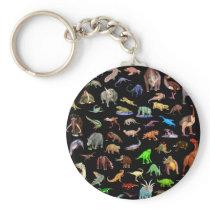 Dinosaur Family Keychain