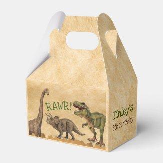 Dinosaur favor box, T-rex Birthday Party Favor Box