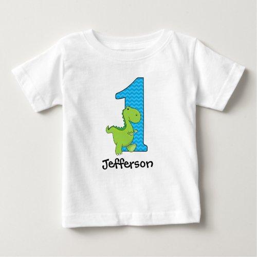 Dinosaur First Birthday Tshirt Personalized