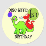 Dinosaur First Birthday Tshirts and Gifts Stickers