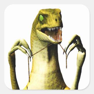 Dinosaur flossing sticker