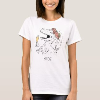 Dinosaur Flower Crown Bride Tee