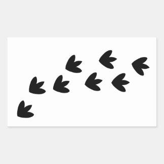 Dinosaur Footprints Rectangular Sticker