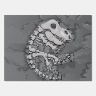 Dinosaur Fossil Lawn Sign